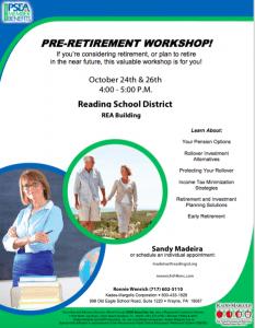 Pre-Retirement Workshop Flyer